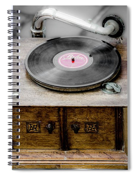 Old Gramophone Spiral Notebook