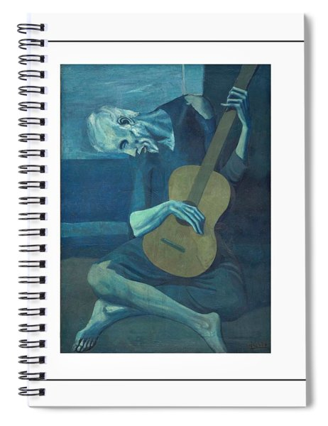 Spiral Notebook featuring the painting Old Guitarist by Pablo Picasso