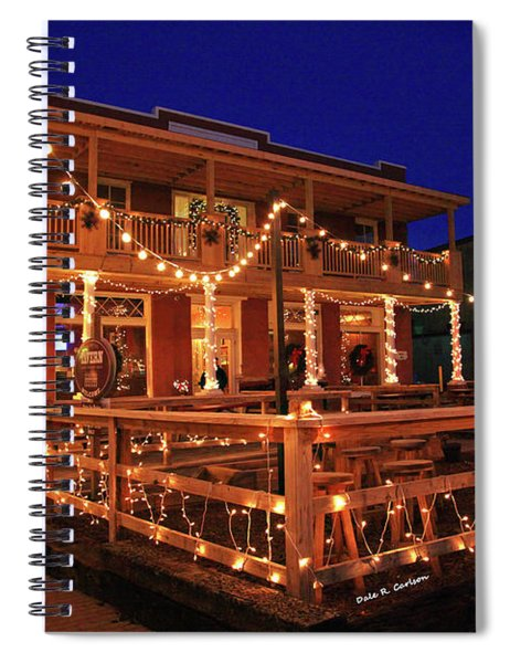 Old Hotel Christmas Spiral Notebook