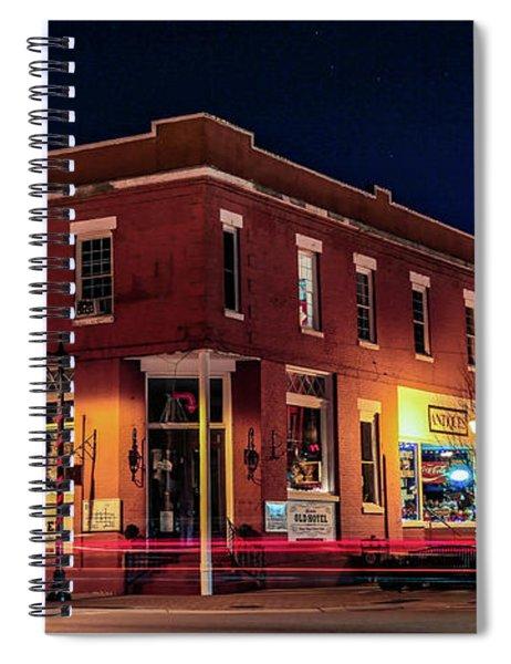 Old Hotel Holidays Spiral Notebook
