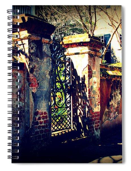 Old Iron Gate In Charleston Sc Spiral Notebook