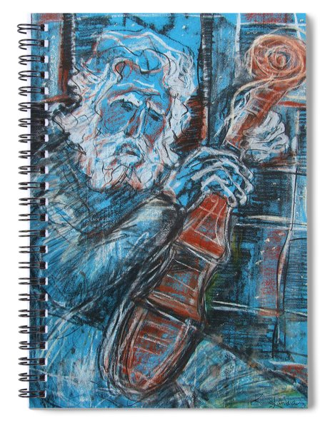 Old Man's Violin Spiral Notebook