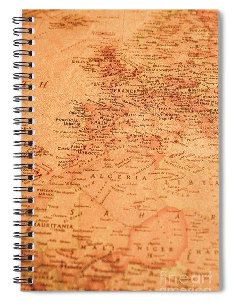 Old Maritime Map Spiral Notebook