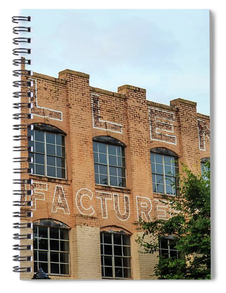 Spiral Notebook featuring the photograph Old Mill Building In Buford by Doug Camara