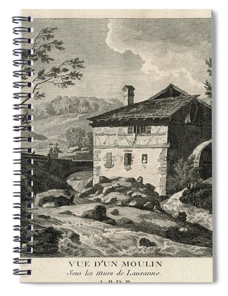 Old Mill By Lausanne Spiral Notebook