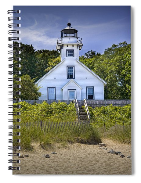 Old Mission Point Lighthouse In Grand Traverse Bay Michigan Number 2 Spiral Notebook