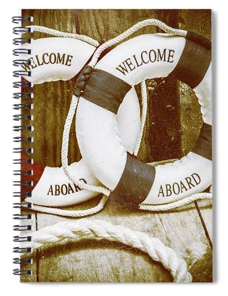 Old Nautical Art Spiral Notebook