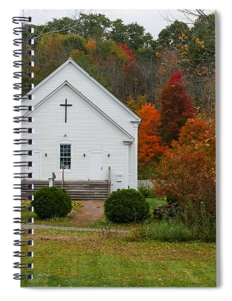 Old New England Church Spiral Notebook