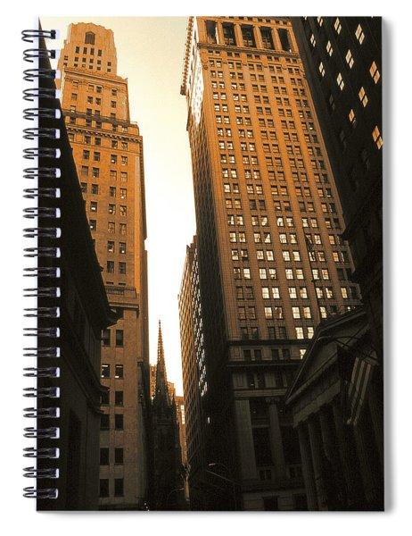 Old New York Wall Street Spiral Notebook