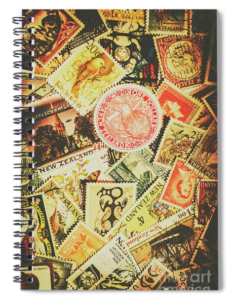 Old New Zealand Stamps Spiral Notebook