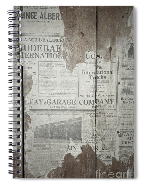 Old News Spiral Notebook