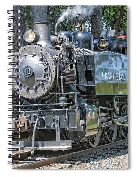 Spiral Notebook featuring the photograph Old Number 10 by Jim Thompson