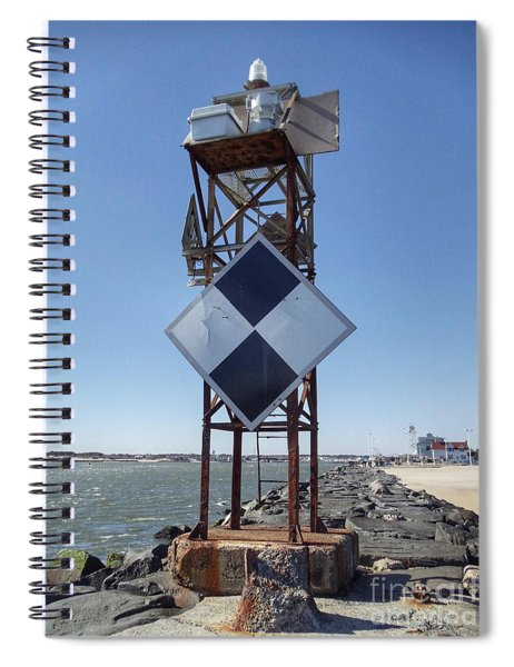 Old Ocmd Inlet Jetty Beacon And Foghorn 2 Spiral Notebook