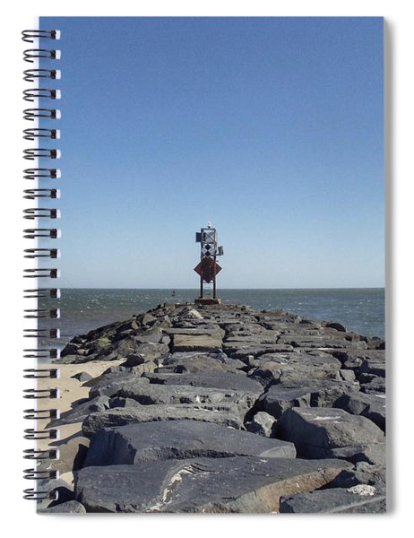 Old Ocmd Inlet Jetty Beacon And Foghorn 3 Spiral Notebook