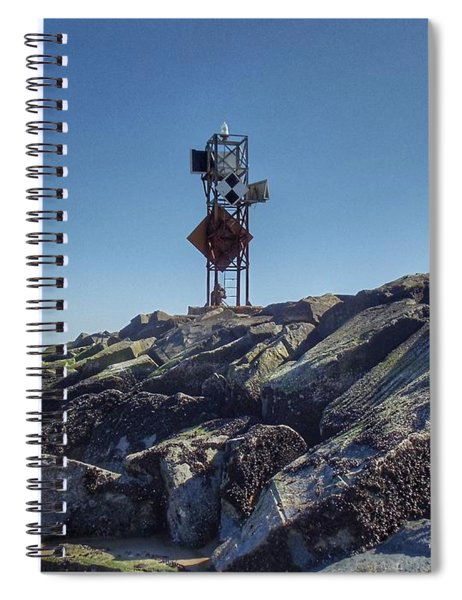 Old Ocmd Inlet Jetty Beacon And Foghorn 4 Spiral Notebook