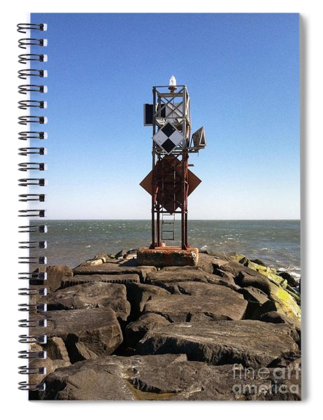 Old Ocmd Inlet Jetty Beacon And Foghorn Spiral Notebook
