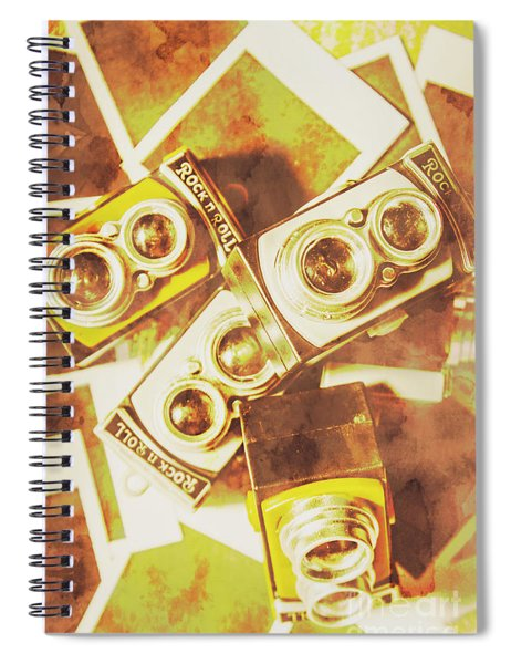 Old Photo Cameras Spiral Notebook