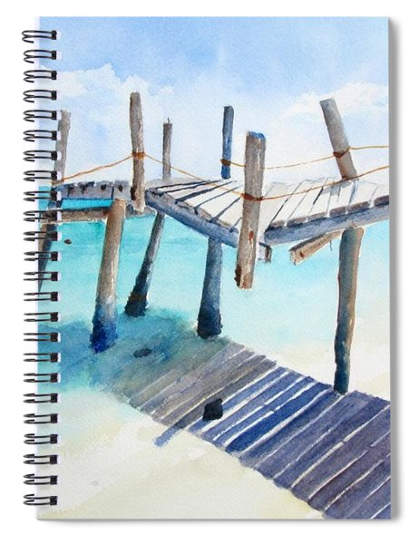Old Pier On Playa Paraiso Spiral Notebook