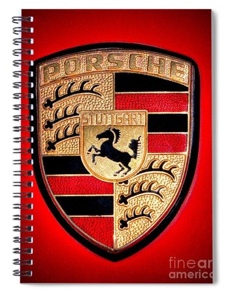 Old Porsche Badge Spiral Notebook