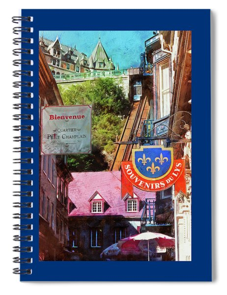 Old Quebec City Funicular Spiral Notebook