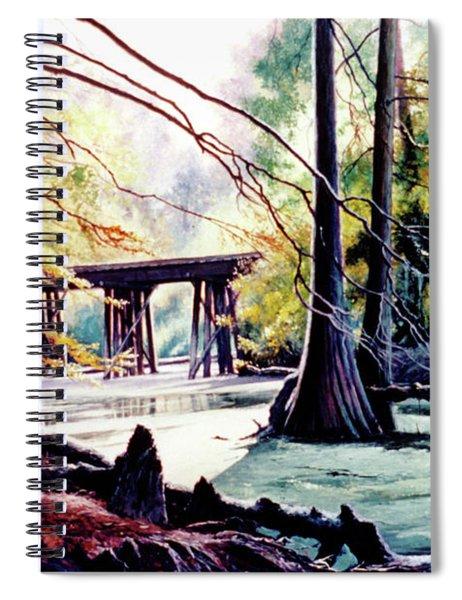 Old Railroad Bridge Spiral Notebook