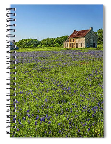 Old Ranch On Us 281 Marble Falls Hdr Panorama 2017 Spiral Notebook