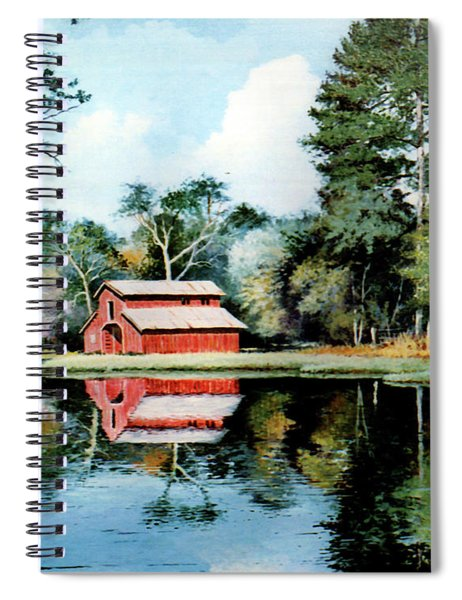 Old Red Barn Spiral Notebook