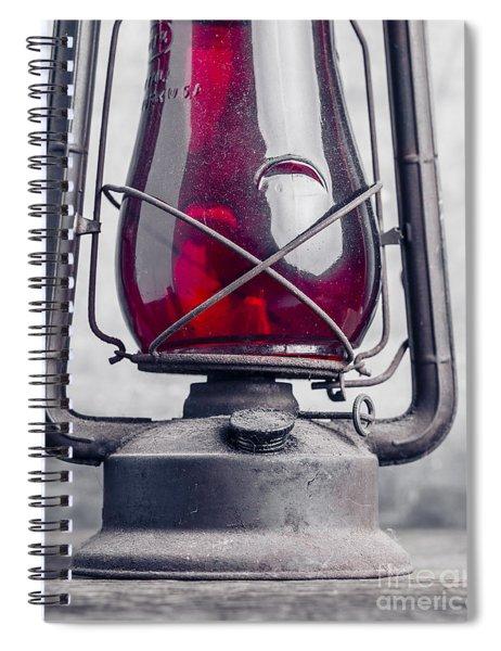 Old Red Hurricane Lantern Still Life Spiral Notebook