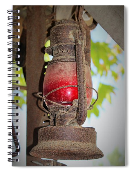 Old Red Lamp Spiral Notebook