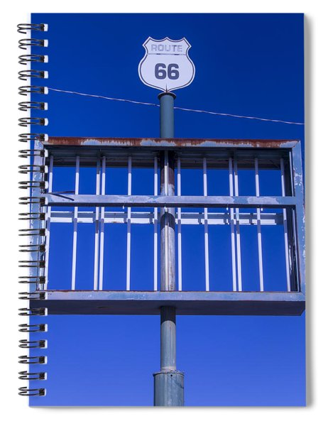 Old Route 66 Decaying Sign Spiral Notebook