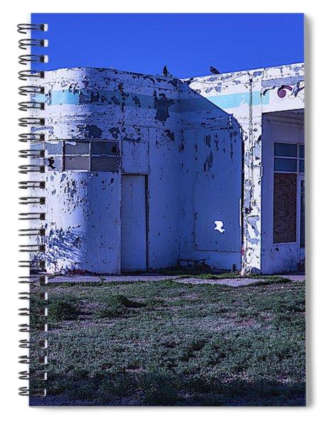 Old Run Down Gas Station Spiral Notebook