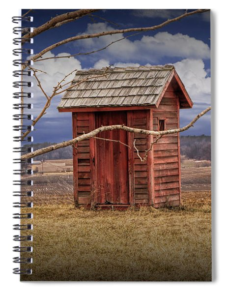 Old Rustic Wooden Outhouse In West Michigan Spiral Notebook