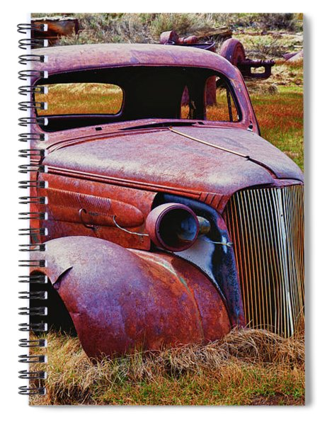 Old Rusty Car Bodie Ghost Town Spiral Notebook