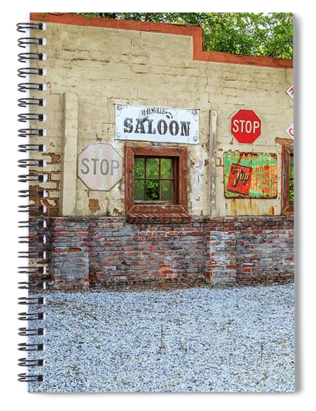 Old Saloon Wall Spiral Notebook