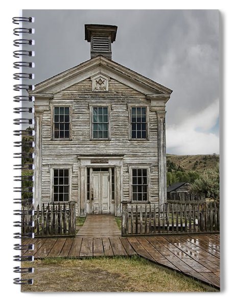 Old School House After Storm - Bannack Montana Spiral Notebook