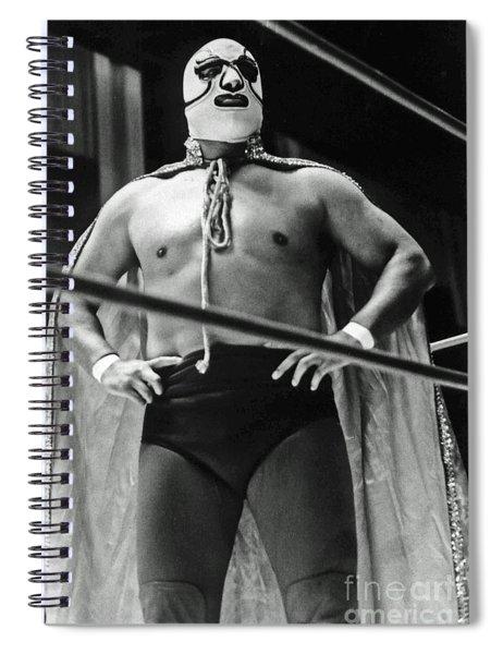 Old School Masked Wrestler Luchador Spiral Notebook