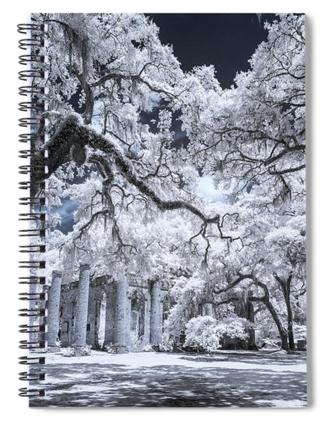 Old Sheldon Church In Infrared Spiral Notebook