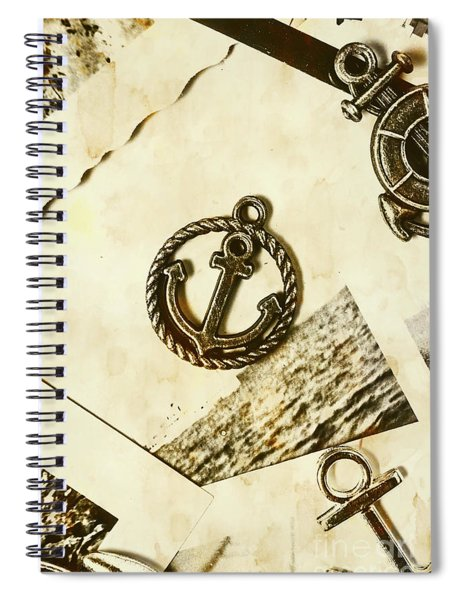Old Shipping Emblem Spiral Notebook