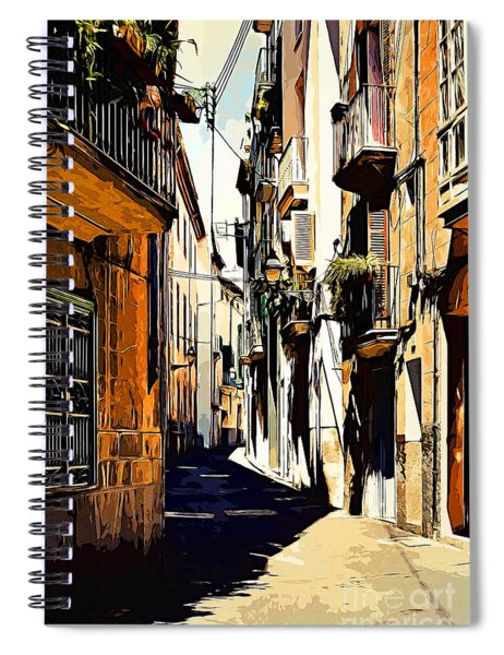 Old Spanish Street Spiral Notebook