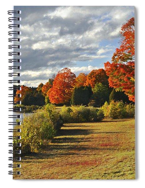 Old Stone Church Autumn Glow Spiral Notebook