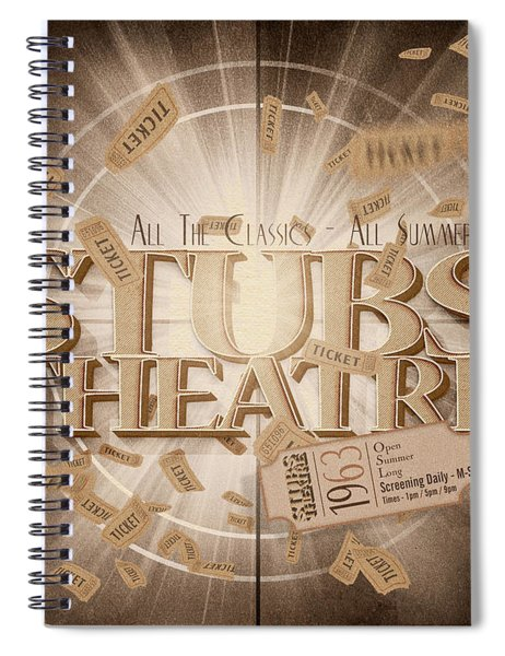 Old Stubs Theatre Advert Spiral Notebook