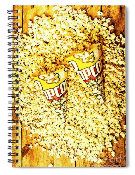 Old Style Popcorn Cones  Spiral Notebook