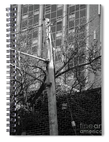 Old Telephone Pole Spiral Notebook