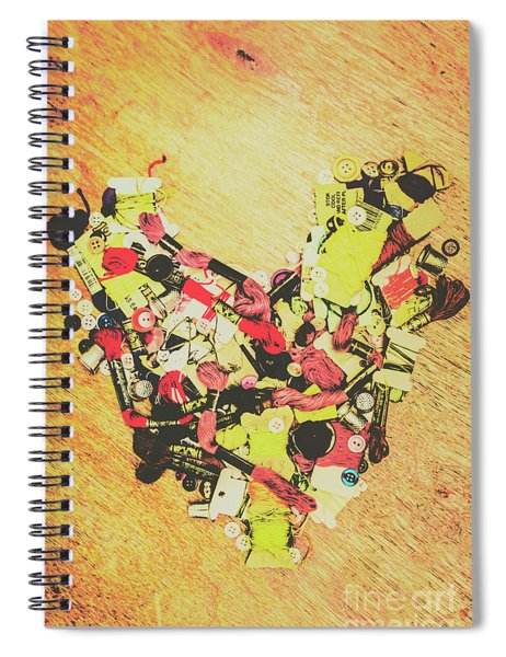 Old Threads And Hearts Spiral Notebook