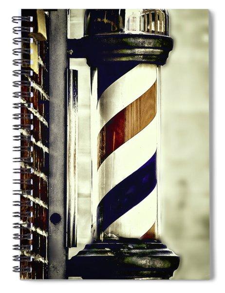 Old Time Barber Pole Spiral Notebook