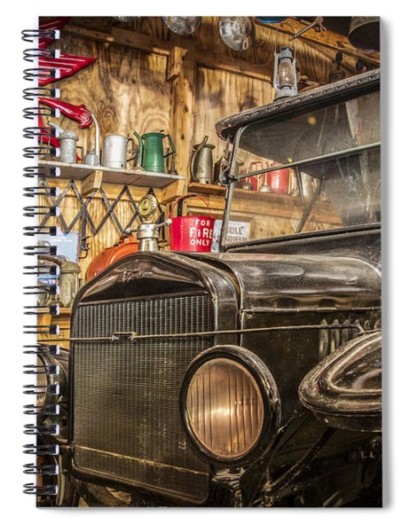 Old Timey Garage Spiral Notebook
