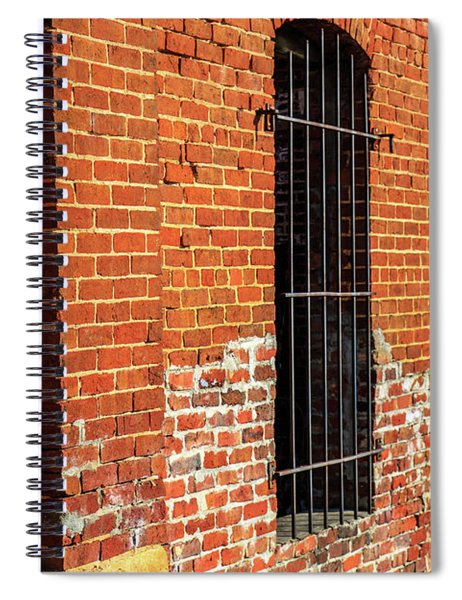 Spiral Notebook featuring the photograph Old Town Jail by Doug Camara