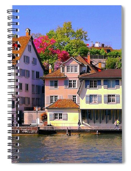 Old Town Zurich, Switzerland Spiral Notebook