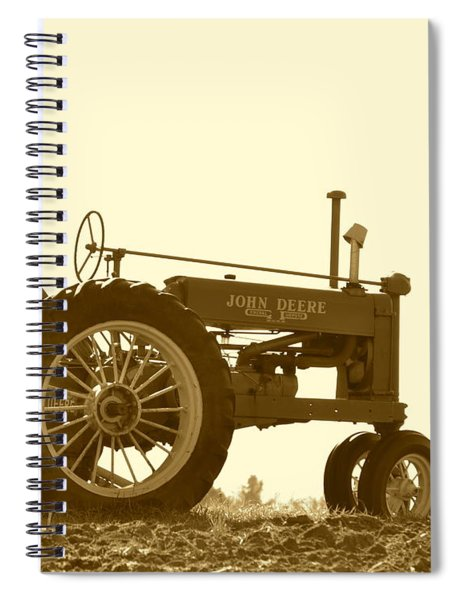 Old Tractor IIi In Sepia Spiral Notebook
