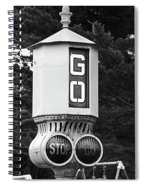 Old Traffic Light Spiral Notebook